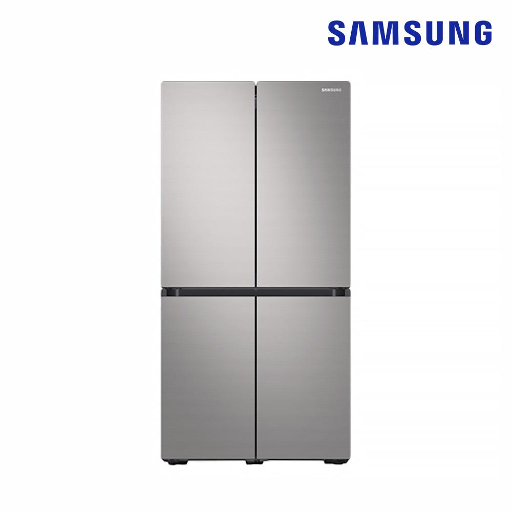 [삼성] 양문형 냉장고(Bespoke) 4도어 871L 린넨 실버 (RF85R9131Z6) [스마트렌탈]