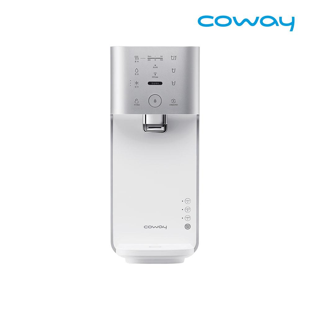 코웨이 마이한뼘 냉온정수기 렌탈 CHP-482L 메탈릭실버 / 약정 3년 / 등록비 0원