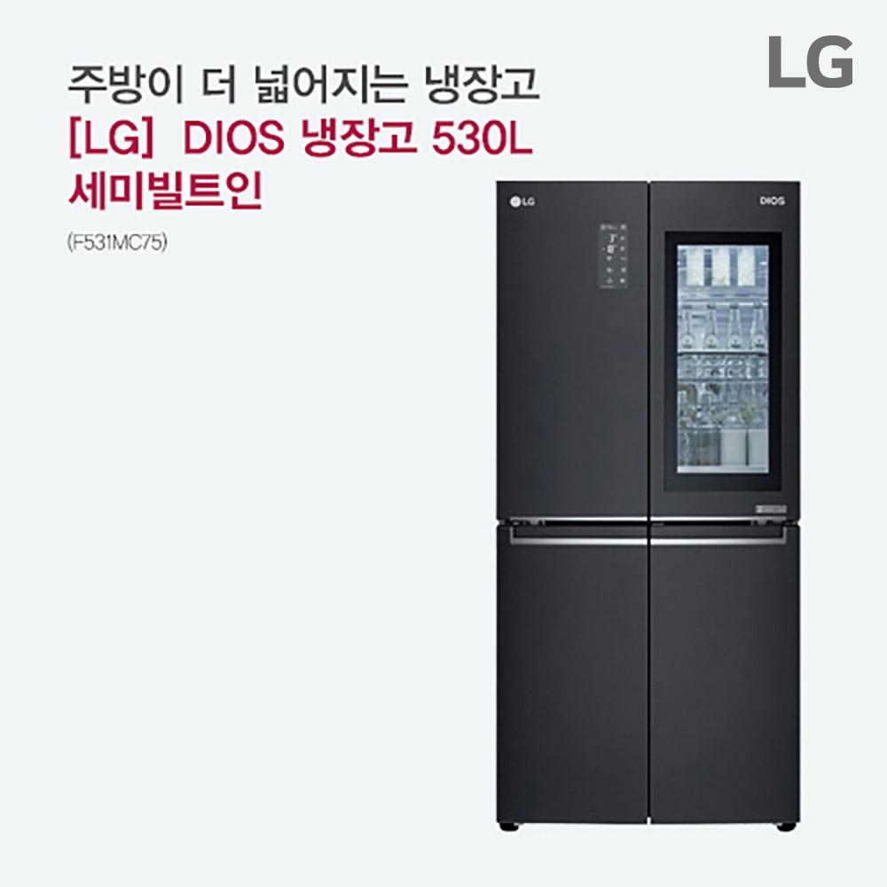 [LG전자] DIOS 냉장고 530L 세미빌트인 F531MC75 [스마트렌탈]